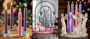 Advent Wreaths and Votive Candles