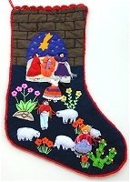 Nativity Stocking with Wall