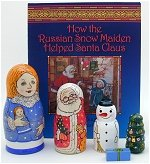 Snow Maiden Book and Nesting Doll Set
